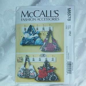 McCall's # M6578 Bags Sewing Pattern